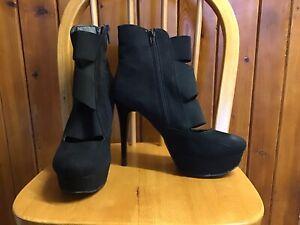 Black Stiletto Ankle Boots Size 3