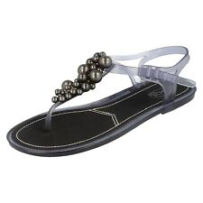 Donna F0479 grigio PVC Sandali infradito sandali da SPOT ON PREZZO