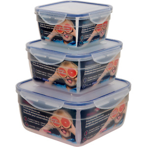SQUARE THREE PIECE FOOD STORAGE CONTAINER SET BY MATURI