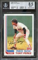 1982 topps #255 TONY PEREZ red sox BGS 8.5