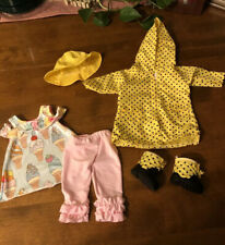 """18"""" Doll Clothes For American Girl, Our Generation. Rain Coat, Boots, Hat, PJs"""