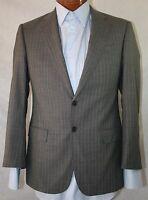 New Armani Collezioni 'Giorgio' Gray Striped Wool 2-BT Suit 38C/ W32 48S