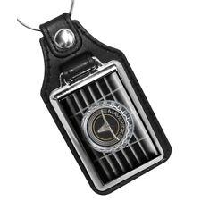 1971 Ford Maverick Longhorn Grill Emblem Design Faux Leather Key Ring
