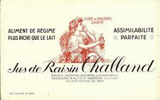 ANCIEN BUVARD JUS DE RAISIN CHALLAND NEGOCIANT NUITS ST GEORGES COTE D'OR 1950
