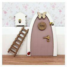 Wooden Handpainted Fairy Door and Fairy ladder - Great Gift Idea - Personalised