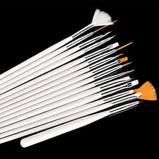 15pc Pro Nail Art Manicure UV Gel Pens Design Brush Painting Pen Tips DIY Tools