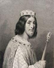 Dagobert II Dessiné Massard peint par Signol gravé  XIXe France