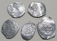 Moroccan Rare Set Of 5 Ancient Islamic Silver Coins Alaouite Dirhams To Catalog