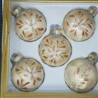 KURT ADLER Vintage Christmas COPPER BEIGE Handcrafted in West Germany Ornaments
