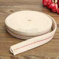 15 Foot 3/4'' White Flat Cotton Fiber Alcohol Wick For Oil Lamps and