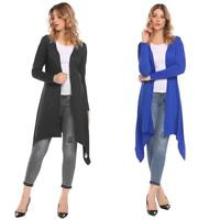 Women Casual Long Sleeve Solid Open Front Cardigan KFBY 04