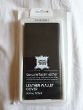 Genuine Samsung Leather Wallet Cover for Galaxy Note9 - Black