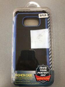 Samsung S8 Plus Black & Blue Fashion Case