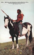 MEDICINE OWL BLACKFEET INDIAN MEDICINE MAN GLACIE NATIONAL PARK MONTANA POSTCARD