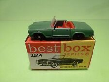 BEST BOX 2514 MERCEDES BENZ 230 SL - GREEN + RED 1:60? - GOOD CONDITION IN BOX