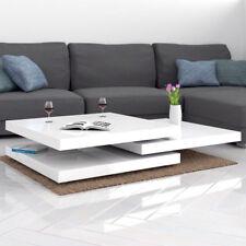Tavolino da salotto moderno tavolino bianco lucido con movimenti a scomparsa