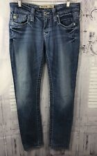 Big Star Womens Remy Straight Skinny Leg Jeans Stretch Low Rise Blue Sz 27x29