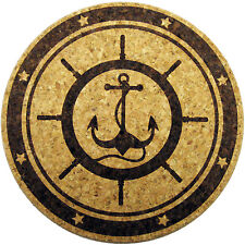 "XL Coasters Anchor & Captain's Wheel design (6"", set of 2) Really works Absorbs"