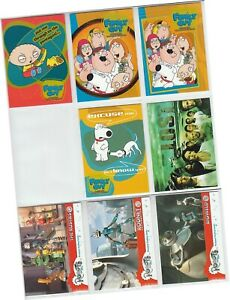Inkworks 2004 - 8 Assorted Card Promo Pack - Family Guy, Lost, Robots - P-i