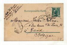 Austria 5h 1904 postcard sent from Austria to Gand in Belgium