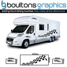MOTORHOME Stripes - Camper RV Decals Van Horsebox Caravan Sticker Graphic CB1