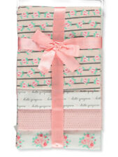 RECEIVING X4 - PETITE GIRLS - FLOWER STRIPED PINK - BLANKETS COTTON 4 PACK BABY