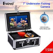 "7"" Underwater Fishing Camera 12pcs White 12pcs IR LED IP68 1000TVL Fish Finder"