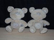 TWO NEXT Beige Brown Teddy Bear Comforters Soft Hug Toys ( 2 )