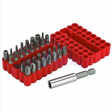 33Pc Security Tamper Proof Bit Set Spanner Star Torx Hex Holder Rod Screwdriver