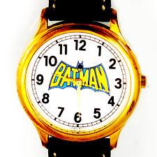 Batman Fossil Big Full Number Easy Read New Unworn, Dress Leather Band Watch $99