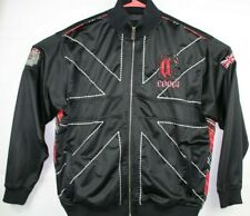 Rare COOGI Mens Track Jacket XXL Black Full Zip Embroidered Logos Zip Pockets