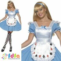 ADULT ALICE IN WONDERLAND DECK OF CARDS UK 8-18 women ladies fancy dress costume