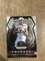 Patrick Mahomes HOT PANINI PRIZM DRAFT PICKS CRUSADE TEXAS TECH CARD #80 - Mint!