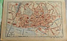 1930 the guide of the old town Nevers Department 58 old map art print