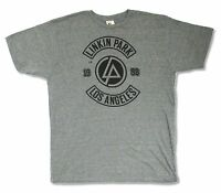 LINKIN PARK L.A. Los Angeles 1998 LOGO HEATHER GREY T SHIRT NEW OFFICIAL LA