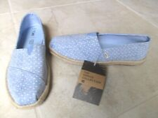 NEW TOMS Alpargata Espadrille Shoes WOMENS 9.5 Blue w/ White Polka Dots $59.99