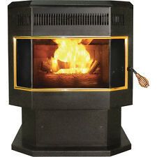 HEATER Pellet Stove with Bay Window - 42,000 BTU - Blower - 265 CFM - 2,000 Sqft