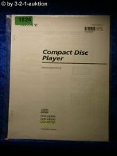 Sony Bedienungsanleitung CDP XE900 /XE800 /XE700 CD Player (#1824)