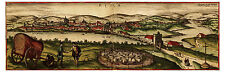 Écija Seville Andalusia Spain bird's-eye view map Braun Hogenberg ca.1572