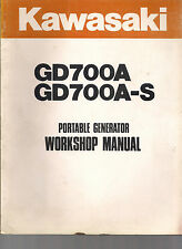 Kawasaki Workshop Manual for GD700A GD700A-S Generators