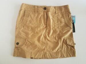 Willi Smith Cargo Khaki Cotton Casual Skirt NWT