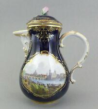 ⚔ Meissen Kaffeekanne Ansicht Dresden Canaletto-Blick vom rechten Elbufer 1.Wahl