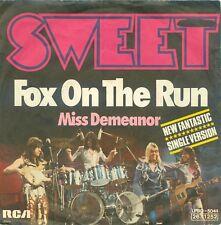 THE SWEET - FOX ON THE RUN ( GERMAN  RCA  LPBO 5044 ) 7'PS  1975
