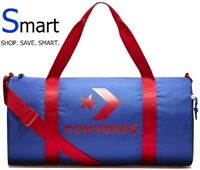 NWT Converse Logo SPORT Blue Red GRAPHIC BARRELL DUFFLE BAG GYM School Unisex