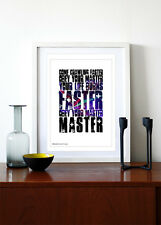 METALLICA  Master Of Puppets ❤ song lyric poster art limited print - 5 sizes #7