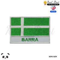 BARRA Scotland County Flag With Name Embroidered Iron On Sew On Patch Badge