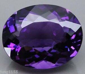 15.29 CT AAA Natural Purple Amethyst Gem Diamond Oval Cut 16x12 MM VVS Loose Gem