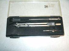 Vintage Charvoz Drafting Compass Set, 11-5373, Italy, Nice, Box has Wear, Art