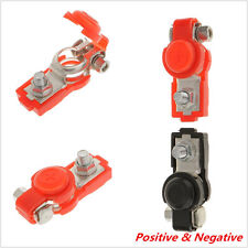 2 Pcs Black Red Plastic Protection Cover Auto Car Adjustable Battery Terminal