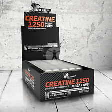 OLIMP Creatine Monohydrate 1250mg MEGA CAPS THE STRONGEST CREATINE muscle mass